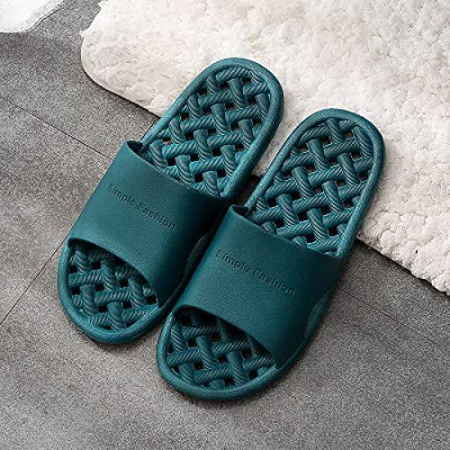 liangchenjingpin Zapatillas De Playa Y Piscina,Zapatillas Huecas Antideslizantes Unisex Verano, BañO Interior Piscina Al Aire Libre para Hombres Y Zapatillas para Mujer Verde 35/36