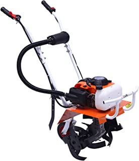 QILIN 2-Cycle Gas Powered Cultivator, 68cc 2.5KW Small Tiller with Four Working Cutter Heads, Multi-functional Tiller, 43C...