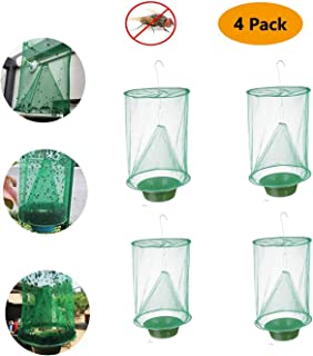 Sutify Fly Trap Garden Ranch Orchard Trap,Ranch Fly Trap Flay Catcher, The Most Effective Trap Ever Made with Pots Flay Catcher 2019 New Fly Red Drosophila (4Pack)