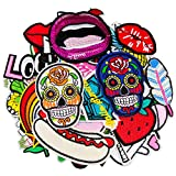 DOXU 40PCS Patches Lips Assorted Freestyle Patches Embroidered Patches Applique Sew On/Iron On Patch Applique Jackets Backpacks Jeans Clothes Hat Applique Decorative Accessory (DX-03-40pcs)