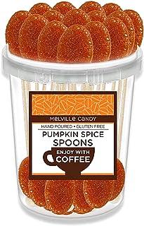 Pumpkin Spice Flavored Hard Candy Coffee Spoons - Gourmet Lollipop Sticks - Candy Bulk - Gluten Free - 30 Pack Bucket