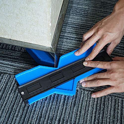 Hyber&Cara Konturenlehre 10 Zoll / 250mm Konturmessgerät Profil Duplikator zum Präzises Messen und Kopieren, Ideales Werkzeug für Laminatböden Fliesen uvm