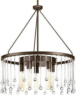 Progress Lighting P400007-020 Transitional Five Light Chandelier from Sway Collection Dark Finish, Antique Bronze