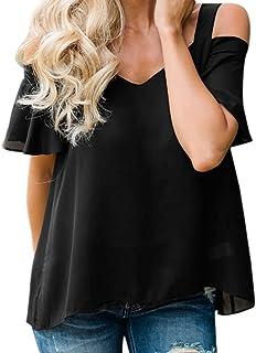 Manica Corta Causale Tunica Donna beautyjourney t Shirt Donna Divertenti Magliette Donna estive Manica Corta Maglia Donna Elegante Tumblr Camicetta Donna Elegante Top Maniche Corte Donna