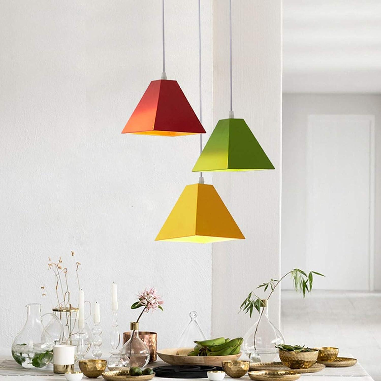 CDLXDD Nordischer Restaurant Kronleuchter Ein-Kopf-Hotel-Kronleuchter Modernes minimalistisches macaron Lampen des Teeladen-Bekleidungsgeschftes,