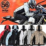 (56デザイン/56design)56 S-LINE MESH PARKA DJ バイク アウター メンズ レディース ジャケット ソフトパッド標準装備 ストレッチ S ゴールド