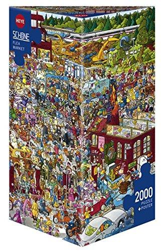 HEYE 29796 - Flea Market Triangular, Christoph Schöne, inklusiv Poster, 2000 Teile Puzzle