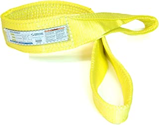 2 Ply 12,000 lbs Vertical Load Capacity Yellow 4 Length x 4 Width Stren-Flex EEF2-904CW-4 Type 3 Heavy Duty Nylon Flat Eye and Eye Completely Wrapped Web Sling