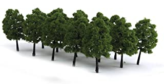 WINOMO 20pcs Model Trees Miniature Landscape Scenery Train Railways Trees Scale 1:100 Dark Green