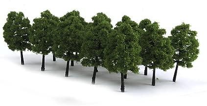 WINOMO 20pcs Model Trees Miniature Landscape Scenery Train Railways Trees Scale 1:100 Dark Green