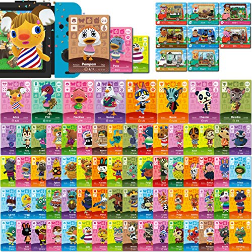 Lot de 80 mini cartes NFC pour Animal Crossing New Horizons Series 1-4 pour Switch   Switch Lite   Wii U (I Edition # 145-216 + RV # 17-24)