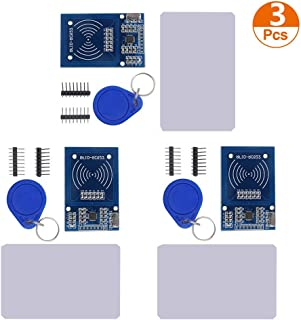 Organizer 3pcs RFID Kit Mifare RC522 RFID Reader Module with S50 White Card and Key Ring for Arduino Raspberry Pi