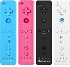 $62 » 4 Pack Wii Controller, Wii Remote Controller with Motion Plus for Nintendo Wii and Wii U, Wireless Wii Game Controller wit...