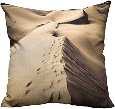 YouXianHome Household Pillowcase Sandy Dunes in Famous Natural Maspalomas Beach on Gran Canaria Spain Perfect for Travel(Double-Sided Printing) 20x20 inch
