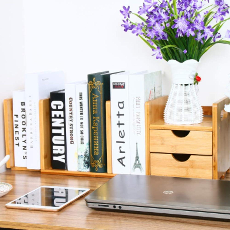 Storage Shelf Table Drawer Bookshelf, Solid Wood Adjustable Shelf Multifunctional Narrow Bookshelf Storage Organizer Waterproof Simple for Student Dormitory -A 21x80cm(8x31inch) Home Stand