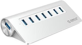 ORICO 7-Port USB 3.0 Unibody Aluminum Portable Data Hub with 1M USB Cable and 30W Power AdapterWindows, Vista, Mac OS and ...