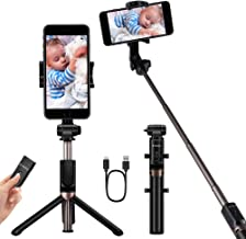 YOKKAO Upgraded Waterproof Selfie Stick Bluetooth Tripod Selfie Stick Extendable for iPhone 11, 11 Pro, 11 Pro Max,Xs Max, iPhone 8, iPhone 8 Plus, iPhone 7 Plus, Galaxy Note S9 Plus,S8,S7, S6, Huawei
