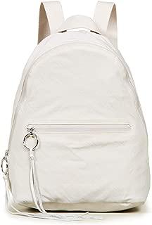 Women's Nylon Dome Backpack, Bone, Off White, One Size