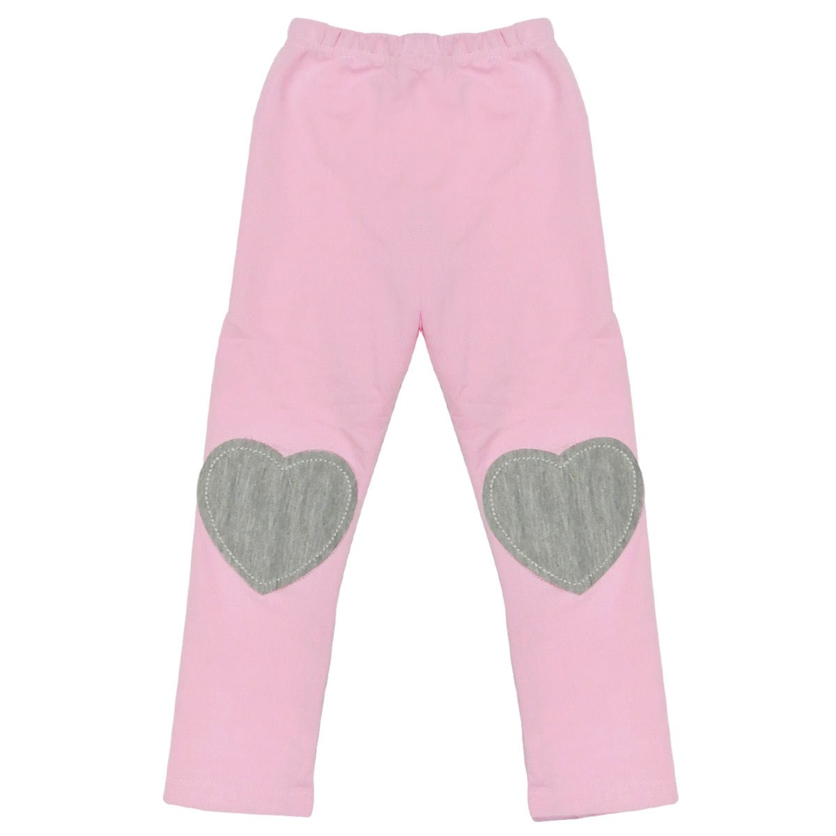 Wrapables Adorable Hearts Toddler Leggings, Pink - 90cm