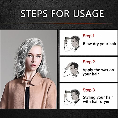 BMK Silver Gray Color Hair Wax Temporary Silver Ash Wax Hairstyle Hair Dye Wax for Party, Cosplay, Nightclub, Masquerad, Halloween (Upgrade Version)