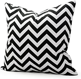 HFBBY® Home Decor Acelive 16 x 16 inches Black White Zig-zag Home Decorative Canvas Pillow Case Pillowcase Pillow Cover Cushion Cover Cushion Case Handmade