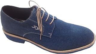 Scarpe Uomo Stringate in Tessuto Jeans Personalizzabili
