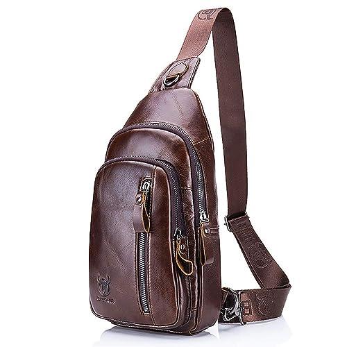 7a80e9aca515 Men Shoulder Bag,Bags for Men,Small Vintage Men's Leather Messenger Bag,Mini