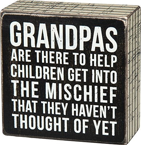 Primitives by Kathy 27218 Pinstripe Trimmed Box Sign, Grandpas