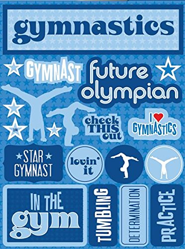 Reminisce RSD-144 Gymnastics Signature Series Dimensional Cardstock Stickers
