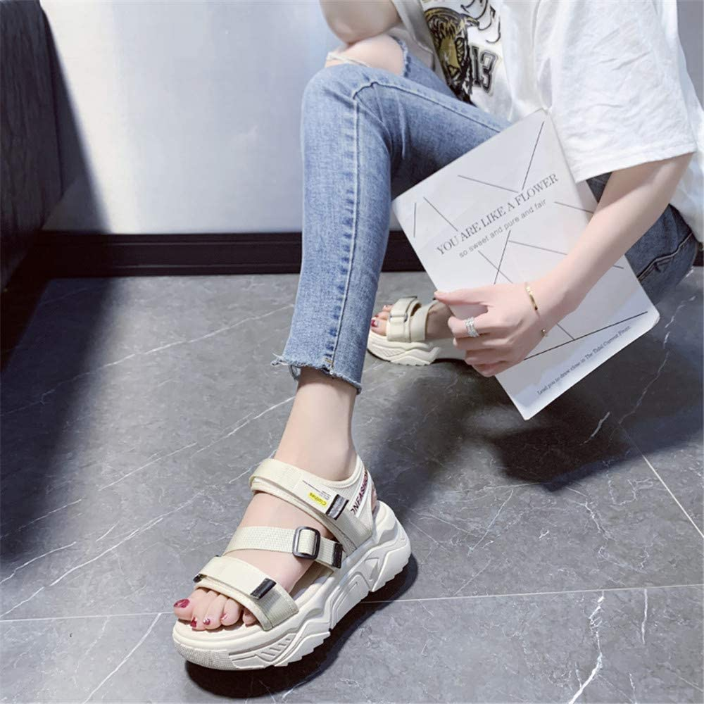 Women's Sport Sandalen, Fashionable Sports sandalen Non-Slip dikke bodem Outdoor Leaky Toes,36eu 39EU