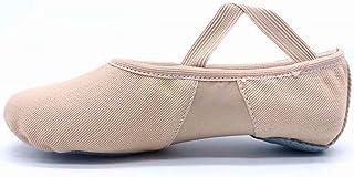 comprar comparacion S.lemon Alta Elásticos de Lona Zapatillas de Ballet Zapatos de Baile para Niñas Mujeres Niños