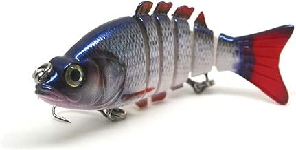 // 35g FISHIN ADDICT Roach foil reflective SUPER SHINE multi jointed Fishing Lure//Swimbait pike 155mm 4 segments 6/'/'