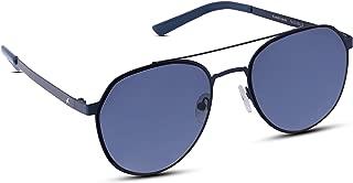 Fastrack UV Protected Round Men's Sunglasses - (M202BU2 55 Blue Color Lens)