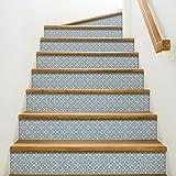 Playa Adhesivo para contremarches de escaleras, Vinilo, Azul, 100x 0,1x 19cm