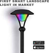GOODSMANN Smart Low Voltage Landscape Lighting Pathway Light Dimmable RGB LED Light Outdoor Garden Light for Yard Decoration (Dedicated app, use Bluetooth Connection Control Color) 9920-2104-C