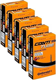 Continental Race 28 700x20-25c Bicycle Inner Tubes - 42mm Long Presta Valve - 5 Pack w/ Decal