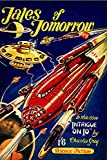 American Gift Services - Tales of Tomorrow 1945 Vintage Science Fiction and Fantasy Sci Fi Book Cover Art Poster - 24x36