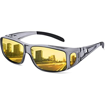 N Night Driving Vision HD Glasses Prevention Yellow Driver Sunglasses