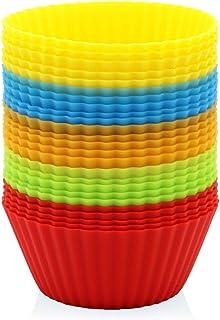 GOURMEO® 25 moules à muffins en 5 couleurs, réutilisables, silicone de haute qualité, respectueux de l'environnement, sans...