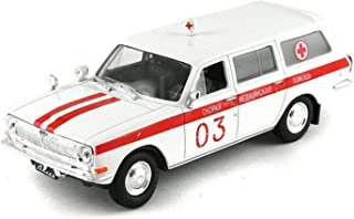 GAZ-24-03 Volga (ГАЗ-24-03 Волга) 1972 Year - Legendary Soviet Ambulance Car - 1/43 Collectible Model Vehicle - Soviet Ambulance Car by Gorky Automobile Factory (GAZ)