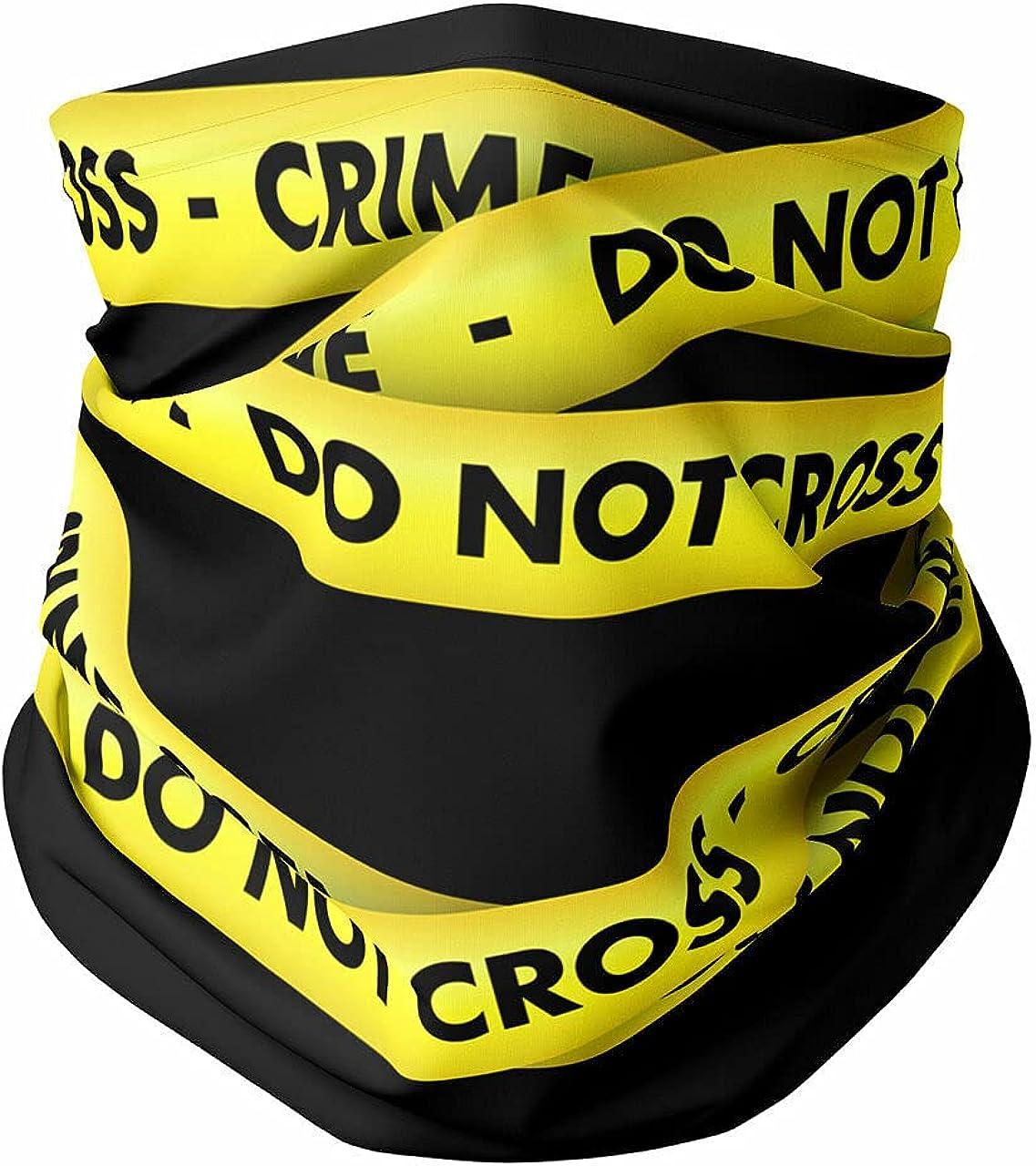Neck Gaiter Face Covering - Crime Scene Tape