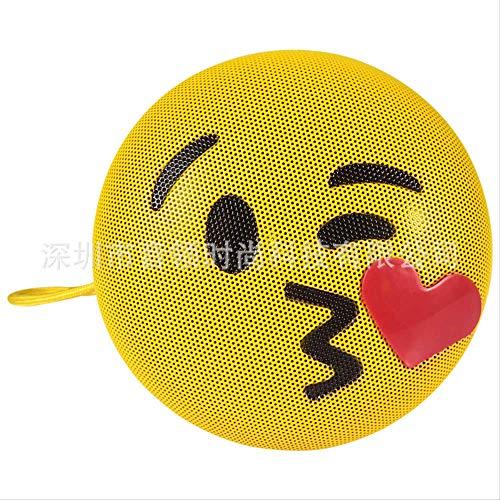 Teléfono móvil altavoz bluetooth Emoji expresión teléfono móvil regalo altavoz bluetooth inalámbrico soplando beso