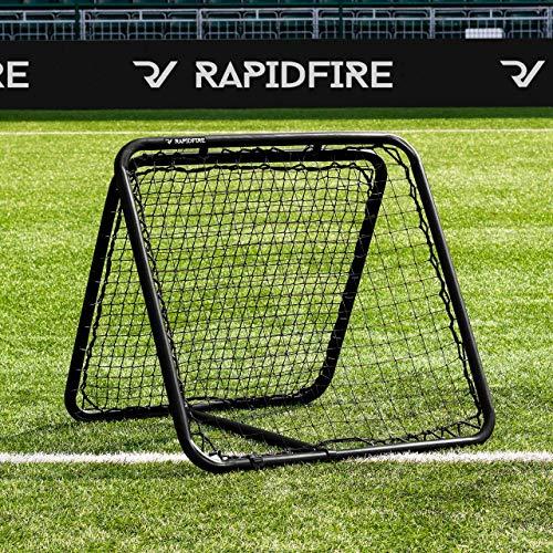 RapidFire Rebounder – Fußball Rebound Netz – neues 2020 Modell - in 3 Größen erhältlich (RapidFire 100)