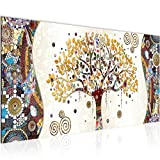 decoración de la mesa Wall Gustav Klimt Árbol de la Vida - 100 x 40 cm Vista de impresión en lienzo Salón Apartamento - listo para colgar - 004612th