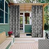 XXANS persiana para Ventana, patrón de círculos con múltiples Colores Vintage inspiraciones geométricas composición, eficiencia energética, oscurecimiento de habitación