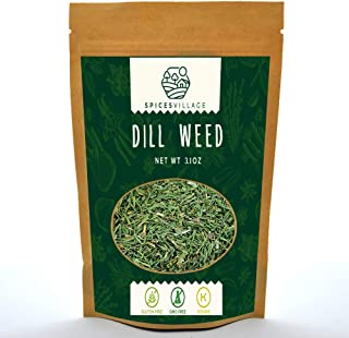 Spices Village Dill Weed, All Natural Pickling Spice, Fresh and Dried Dill Seasoning, Flavorful seeds for pickles, vegetab...