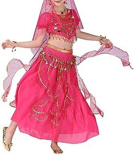 comprar comparacion YWLINK Danza del Vientre, NiñAs India Danza del Vientre Danza Egipcia Traje De Rendimiento Conjunto De 2 Piezas Traje De B...