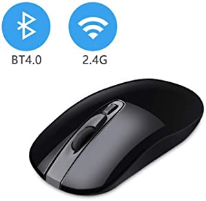 Cimetech Wireless Bluetooth Mouse with Nano Receiver, Less Noise and Mute Silent Click, Portable Mobile Optical Mice ...