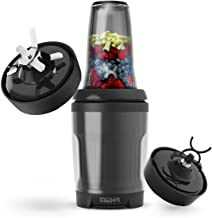 PROMIXX MiiXR X7 Performance Nutrition Food Blender - Smoothie Maker, high Speed Mixer Steel Blade Food Processor, Ice Crusher, X-Blade for Shakes, Tritan Smoothie Bottle BPA Free 7 Piece Set in Black