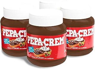 Pepa-Crem. Crema de cacao con avellanas para untar. Sin